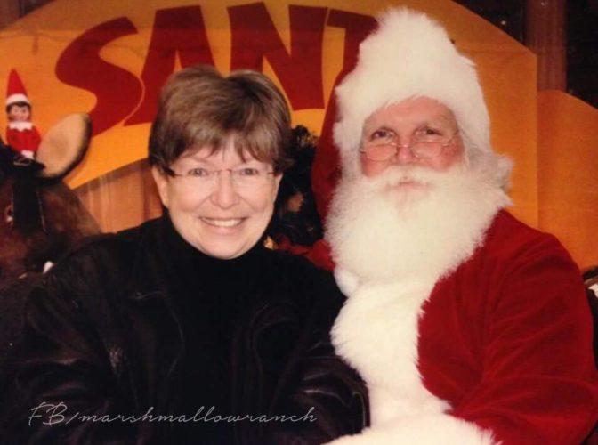woman with Santa