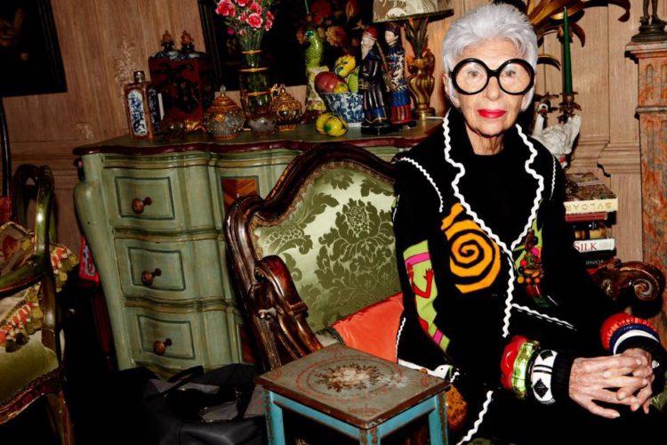 Iris Apfel, the 95 year old fashion icon.