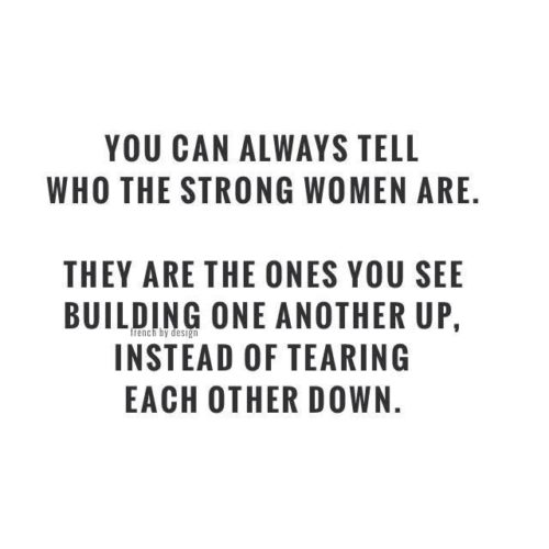 Meme about strong women support each other.