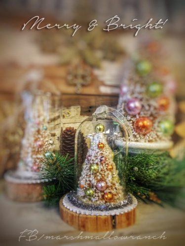Bottle brush tree Christmas ornament.