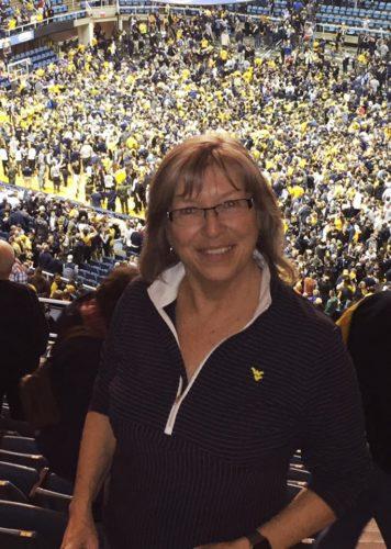 Woman at NCAA Basketball, WVU whips Baylor 89-68!