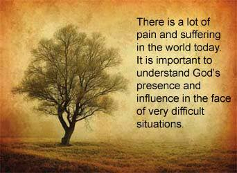 Meme about understanding where God is during difficult times.
