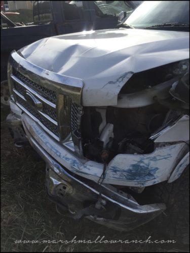 Banged up truck