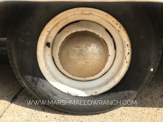 New tire on old camper