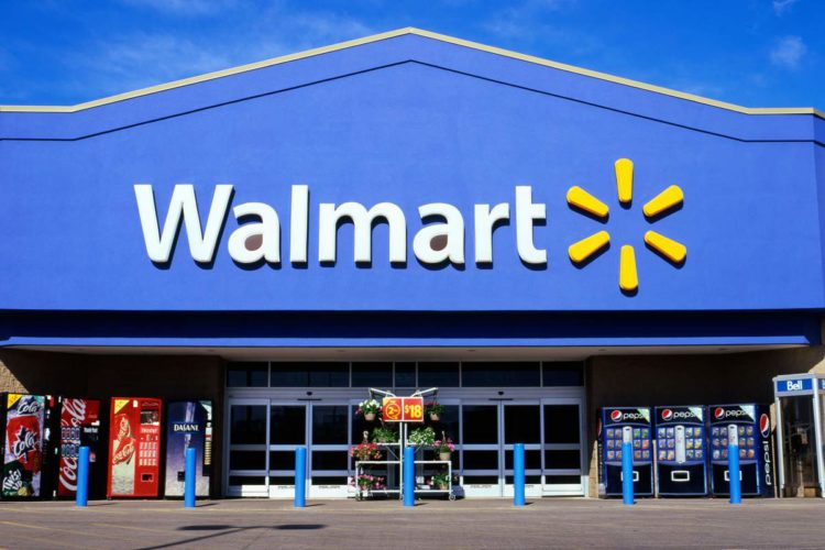 Front view of a Walmart supercentre store exterior sign logo Ontario Canada  KATHY DEWITT. Image shot 05/2012. Exact date unknown.