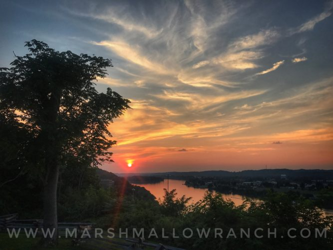 Sunset over the Ohio River