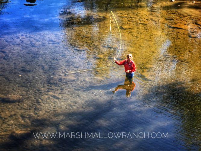Woman Flyfishing