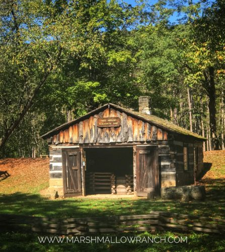Old log cabin in Beaver Creek State Park