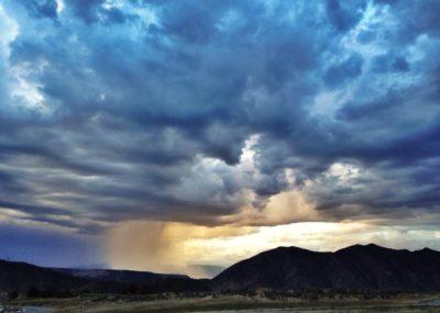 Rain storm in Colorado