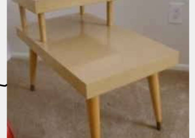 Blonde wooden end table