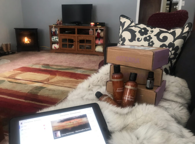 Writing in front of the fire